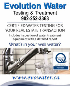 On Site Well Water Testing for Real Estate Halifax
