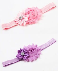 Baby Girl's Toddler's Stretchy Hairband Flower Bow - New
