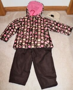 Girl's 2 Piece Snowsuit     Size Small 4/5