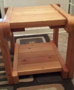 solid Wooden End Table