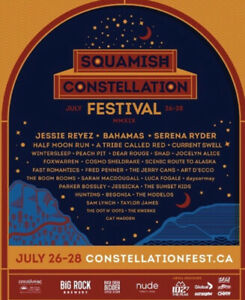 SQUAMISH CONSTELLATION FESTIVAL TICKET