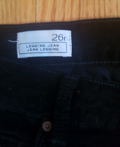 Black cord jeans size 26 for sale