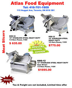Brand new Meat Slicers(Special Spring Offer)