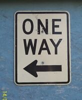 Aluminum One Way Sign with Arrow