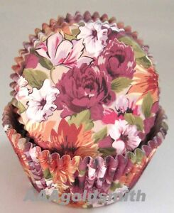 48pcs-colorful-floral-oil-style-flower-muffin-baking-cups-cupcake-liners-cases