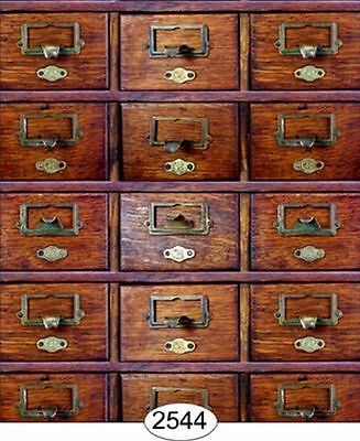 Dollhouse Wallpaper Library Drawers