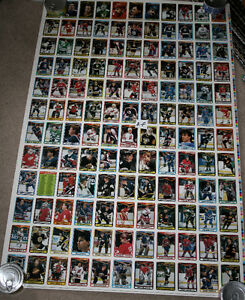 4 sheets 90-91 OPC O-Pee-Chee Hockey Uncut Sheet 132 Cards Kitchener / Waterloo Kitchener Area image 3