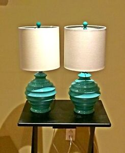 Two table décor lamps for sale