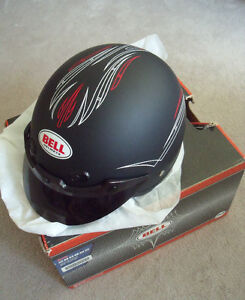 Bell half face helmet (Size XL) with pinstriping