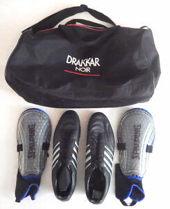 SOCCER SHOES AND SHIN PADS - ADULT SIZE 13!!!