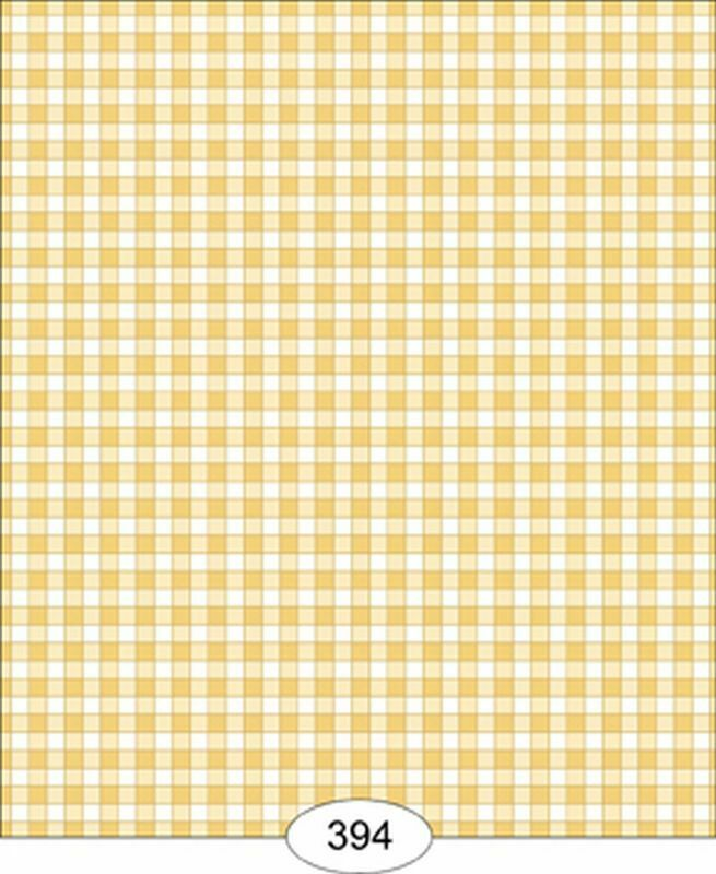 Dollhouse Wallpaper Cottage Plaid Yellow