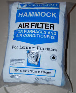 "5 NEW HAMMOCK Furnace and A/C Air Filters 30""x45"" Mastercraft"