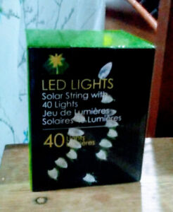 Outdoor solar lights string of 40, brand new in box