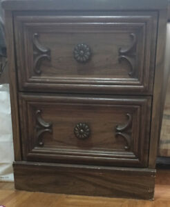 $70 Bombay Wooden Nightstand / Side Table