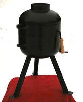 Ice fishing hut, work shed, sauna, compact, portable wood stove