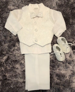 Boys baptism christening clothes