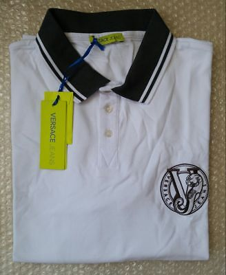 Versace Jeans men's polo shirt embroidered logo size 3XL (56IT)*