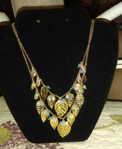 Double strand leaf necklace for sale