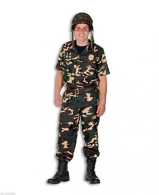 Soldat Ranger Soldatenkostüm Rambo Armee Uniform Söldner Herren Kostüm Tarnanzug
