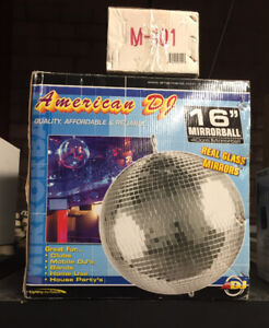 "16"" Mirror Ball & Motor - new in box"