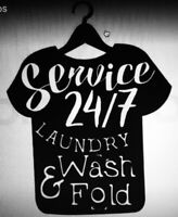 Wash and Fold services. Free pick up and delivery