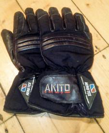 Akito Leather Motorcycle Gloves - Medium (8)
