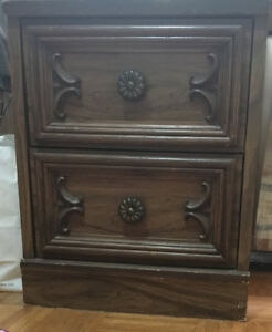 Urgent Sale!! $70 Wooden Night Stand / Bedside Table