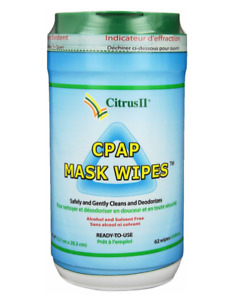 New Sealed Container CPAP Mask Wipes Citrus II Brand