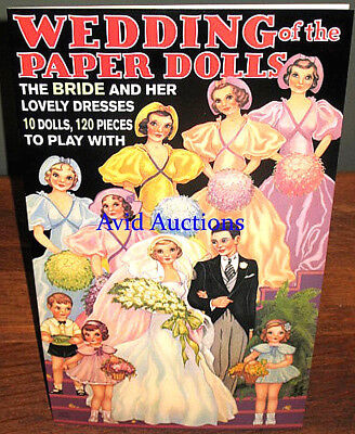 WEDDING OF THE PAPER DOLL S BOOK Vintage Style 10 Dolls 120 Pcs MINT B. Shackman