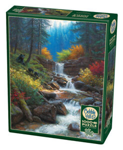 New sealed 1000 pc Cobble Hill jigsaw puzzle bear waterfall
