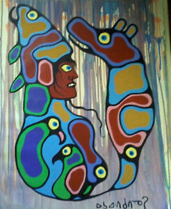 Original Norval Morrisseau Painting Ex Nagy Collection