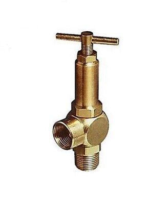 Pressure Reliefregulating Brass Valve 14 Inlet Outlet W 150 Psi Range