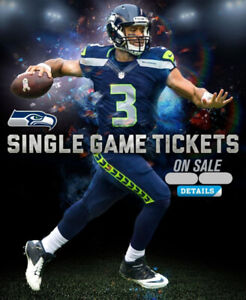 OH MY!! CHEAP SEATTLE SEAHAWKS NFL TICKETS - 2,3,4,6 IN A ROW!