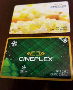 Two Cineplex Gift cards for sale ($117.34 value)