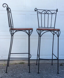 2 bar height chairs $90 for the pair.( stools ) Cambridge Kitchener Area image 2