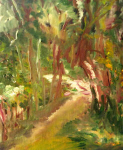 Path, oil painting