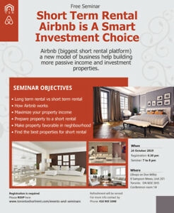 Free Seminar - Short Term Rental Airbnb Smart Investment Choice