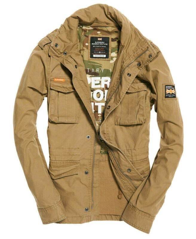 Mens Superdry Rookie Military Jacket Sandstone | in Sutton, London | Gumtree