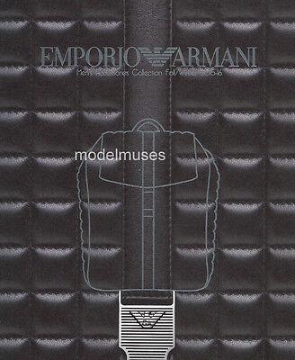 Emporio Armani Men Accessories - EMPORIO ARMANI Fall 2015 Men's Accessories Collection CATALOG - OUT OF PRINT!