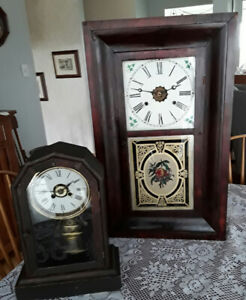 TWO ANTIQUE NEW HAVEN CLOCKS
