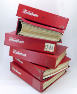 Massey Ferguson Parts Books/ Manuals, 6 binders with 65 manuals