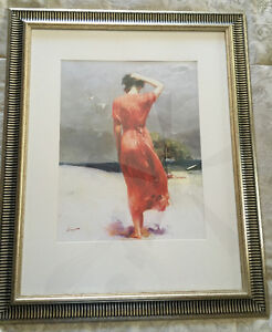 Woman in Red, art print in frame West Island Greater Montréal image 1