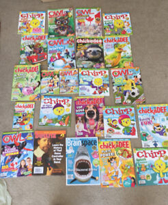 Children's magazines for various ages