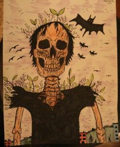 """- Original Surreal/Horror Art -  8 1/2"""" x 11"""" -"""