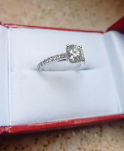 18K DIAMOND WHITE GOLD ENGAGEMENT RING (WITH APPRAISAL)