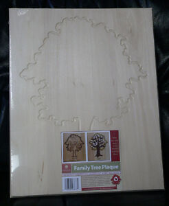 Family Tree Wood Plaque (lot of 4) Basswood by Walnut Hollow Kingston Kingston Area image 2