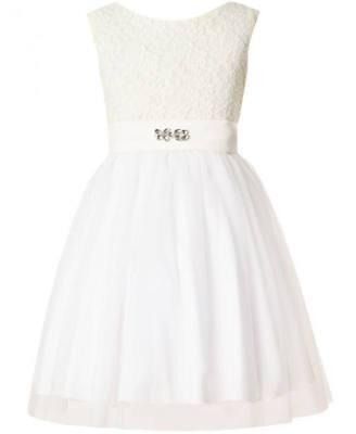 Mädchen Kleid Festlich Jugendweihe Hochzeit Blumenmädchen mit Spitze und Tüll