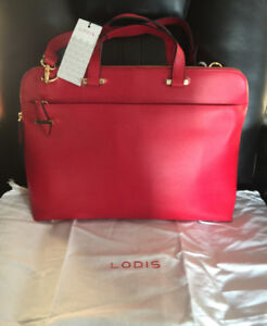 New Lodis Leather RFID Protected Laptop Bag.