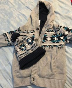Gymboree hoodie with matching hat