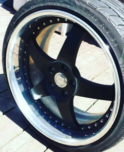 """Iforged 2pc 3"""" dish wheels 5x114 genesis g35 g37 staggered"""